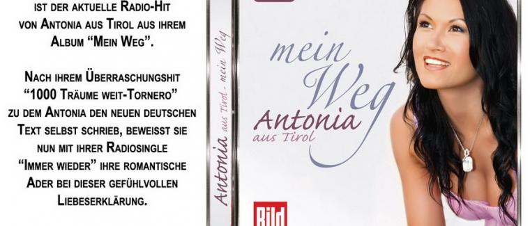 "Antonia aus Tirol-Aktueller Radiohit ""Immer wieder"""