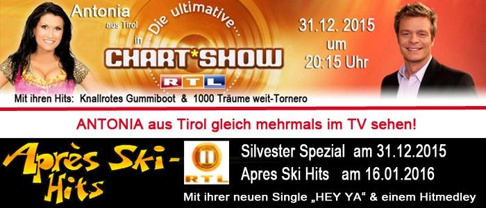 Geballte TV Power – mit Antonia aus Tirol