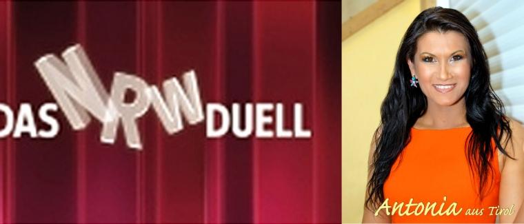 Antonia aus Tirol im TV beim NRW Duell / 06. Juli 2011 / WDR