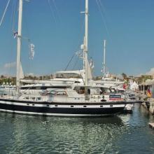 Antonia auf der Internationalen Boots-Messe Mallorca