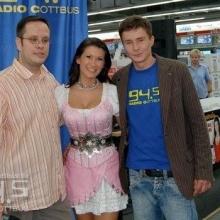 Antonia bei Radio Cottbus
